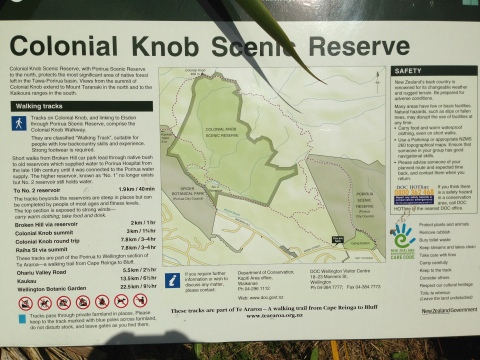 Colonial Knob Sign